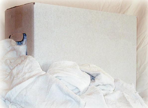 Witte poetsdoeken