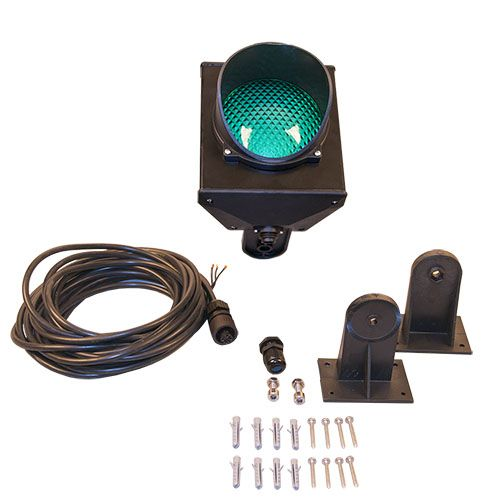 Traffic light GREEN, LED 230V