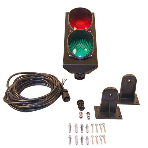 Traffic light RED - GREEN, LED 230V